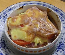 ピザ風オーブン焼トマト&チーズハンバーグ