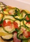 簡単♪ウインナと夏野菜のマヨチーズ焼き☆