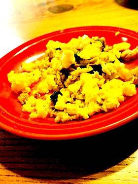 美味しい簡単☆さつまいもと鶏そぼろ炒め