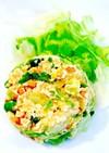 豆腐でかさ増し☆納豆レタス炒飯