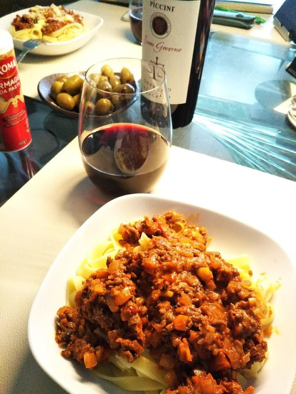 牛挽肉のラグー風パスタソース