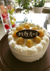 敬老の日抹茶ケーキ