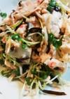 お豆腐とかいわれ大根の塩昆布サラダ