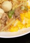 満腹♫肉あんかけオムライス(たけのこ入)