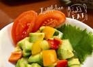 きゅうりとアボカドの彩りサラダ