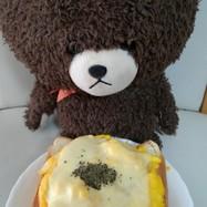 ダブルチーズふわふわ卵のせトースト