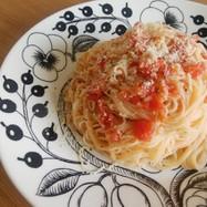 トマトが甘い♪冷製パスタ