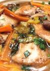 鶏肉とキノコの味噌バタースープ煮