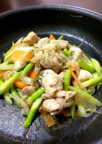 コクうま☆塩ダレ鶏野菜炒め