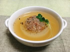 玉ねぎとベーコンdeとろっと食べるスープ