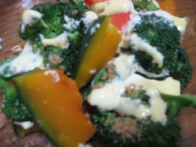 ホット野菜のごまマヨ