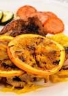 鶏もも肉のオレンジソース焼き