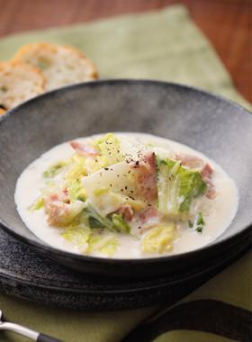 北海道♪白菜とベーコンのこっくりミルク煮