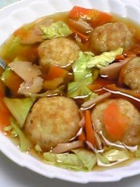 レンジで☆たこ焼きスープ