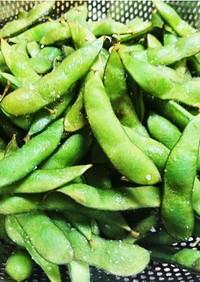 無水鍋で枝豆の塩茹で(蒸し)