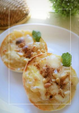 りんごジャム×松の実の甘塩チーズトースト