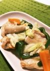 ご飯がすすむ♬トロ〜リ鶏胸肉の塩野菜炒め