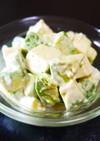 アボカドと木綿豆腐のわさび醤油マヨサラダ