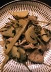 大葉が決め手!豚、山芋、ごぼうの甘辛炒め
