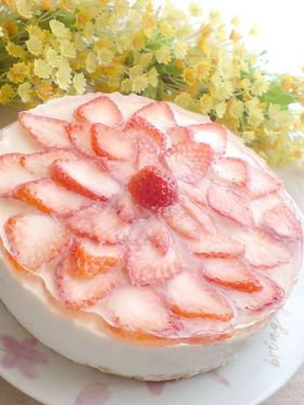 カルピスで*ヨーグルトムースケーキ