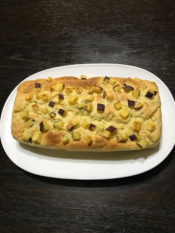 秋☆HMでさつま芋とクリチしっとりケーキ