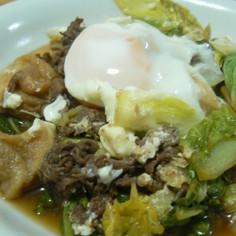 牛肉と白菜と麩のすき煮
