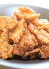 鶏もも肉とレンコンの甘辛から揚げ!