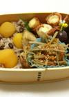 ⑪ 秋の森♡  栗小豆ご飯弁当