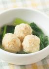 小松菜と肉だんごのスープ