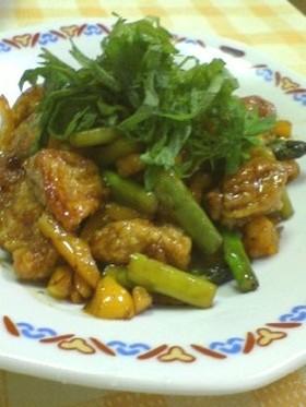 ◆鶏肉と大葉の甘辛炒め◆