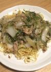 白菜と豚ひき肉のパリパリ焼きそば