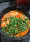 納豆と豆腐のチゲ鍋