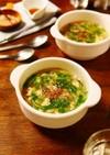 もやしと豆苗の中華風ふわふわ卵スープ