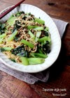 小松菜とひき肉の和風パスタ