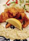 秋鮭の香草フライ アボカドタルタルで