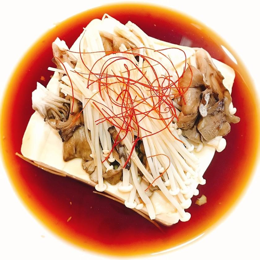 レンジのみで簡単!舞茸豆腐ステーキ