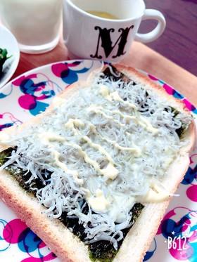 のりチーズとしらすの簡単トースト♪