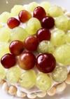 簡単ブドウの誕生日ケーキ(幼児食)