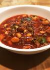 さば味噌煮缶と野菜とお豆のトマトスープ