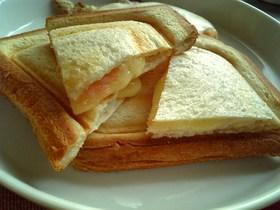 たらこ・チーズのホットサンド
