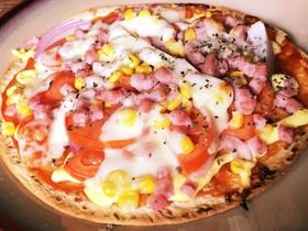 ズボラ飯☆余ったタコスの皮でピザ風の何か