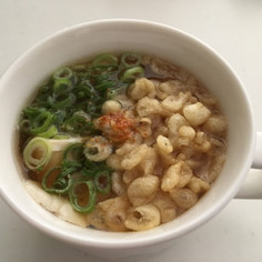 マグカップで揚げ出し豆腐風スープ