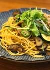 10分でできる豚肉と水菜の和風パスタ☆