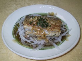 太刀魚の香味ソース