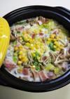 白菜とベーコンの♡ミルク鍋♡