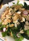 小松菜とラデッシュのサラダ