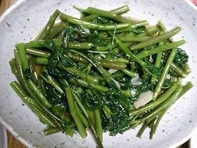 空芯菜(くうしんさい)の炒め物