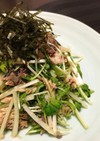 さば缶の簡単副菜☆さばと水菜のサラダ