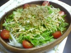 かりかりしらすと水菜のサラダ