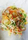 ツナとキャベツのコロコロポテトサラダ♪